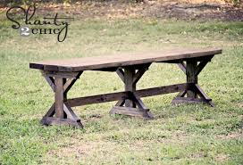 Ana White Picnic Table Ana White Fancy X Farmhouse Bench Diy Projects
