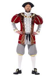 Tudor Halloween Costumes Mens King Henry Viii 8th Fancy Dress Costume Tudor Medieval