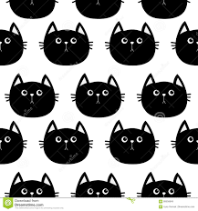 cat wrapping paper black cat character baby pet collection seamless