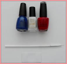 British Flag Nails Polished Art Union Jack French Tips Tutorial