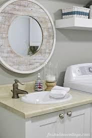 Affordable Bathroom Mirrors Nod To Nautical Bathroom Makeover Reveal Budget Bathroom
