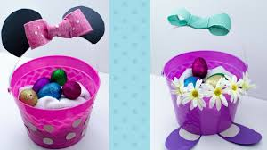 minnie mouse easter egg diy disney easter baskets minnie mouse and duck bff baskets