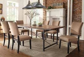 industrial dining room table and chairs for best industrial dining