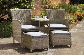 Outdoor Garden Chairs Uk Royalcraft Wentworth Fixed Companion Set
