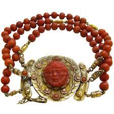coral necklace antique images Antique coral and gold bracelet at 1stdibs jpeg