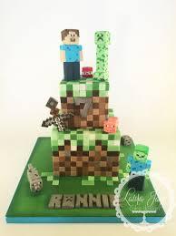 2 tier minecraft cake cake by laura davis cakesdecor