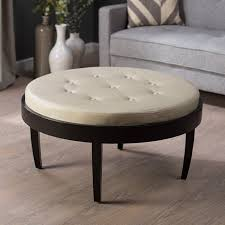 interior awesome grey round ottoman coffee table ottoman table