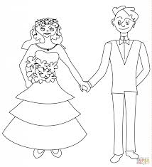 wedding couple coloring page download and printable holiday
