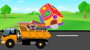 monster trucks kids video loader truck pickup lightning mcqueen monster truck kids video