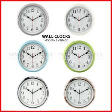 retro vintage wall clock clocks large modern kitchen silver silent non