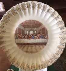 sanders mfg co lord s supper plate lord s supper 23k gold decorative plate sanders mfg co