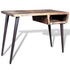 pied de bureau bois bureau en bois recyclé avec des pieds en acier achat vente