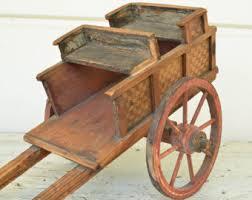 wooden cart etsy