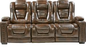 Rooms To Go Leather Recliner 1 499 99 Eric Church Highway To Home Renegade Brown Leather
