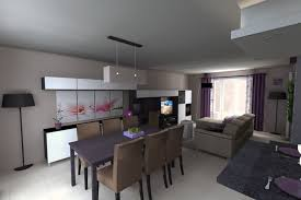 amenagement cuisine salon salle a manger charmant idée aménagement salon salle à manger et decoration