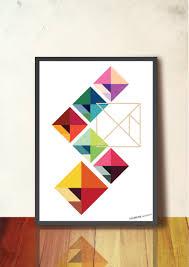 geometric print modular tangram geometric poster