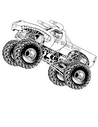 free printable monster truck coloring pages for kids printable