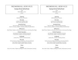 memorial service program template best business template