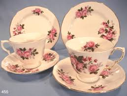 queen anne vintage bone china trios pattern 8575 u2013 sold