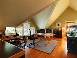 Home Loft Office Loft Office Home Office Farmhouse With Traditional Round Pub Tables
