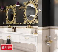 Bad Accessoires Set Geesa Tone Gold Accessoires Set Toilettenbürstenhalter Haken