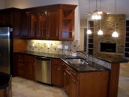 cherry wood cabinets with granite counter top real estate