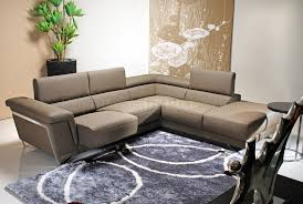 light brown leather modern sectional sofa w chrome legs