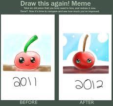 Meme Kawaii - draw this again meme kawaii cherry by copicuser101 on deviantart