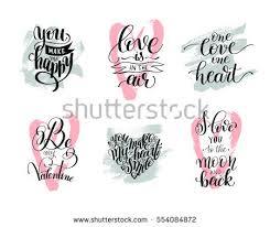 wedding album quotes set handwritten lettering positive quote about stock vector