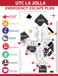 utc mall map emergency escape plan map on behance