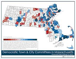 Massachusetts Town Map by Financial Activity Of Democratic Town Committees In Massachusetts
