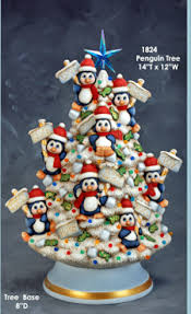 ceramic christmas tree light kit penguin christmas tree ronnie would l ve this one