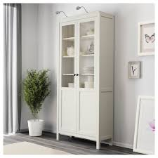 White Bookcases With Doors by Hemnes Cabinet With Panel Glass Door White Stain Ikea