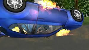 animated wrecked car animated car crash and burn wmv youtube