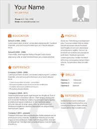Sample Resume Format In Word Document by Gorgeous Inspiration Simple Resume Samples 13 Basic Template Word