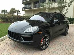 porsche suv black porsche cayenne turbo s suv in florida for sale used cars on