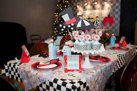 Red Baby Shower Themes For Boys - mad hatter graduation themed party ideas the color scheme was