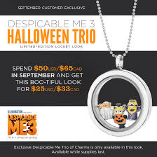despicable me 3 halloween trio by origami owl direct sales