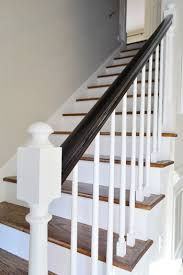 How To Refinish A Banister How To Install A Stair Runner Young House Love