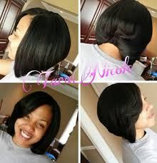how to do a bob hairstyle with weave bob action quick weave double cap no glue on hair easy pull off