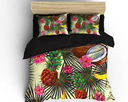 hawaiian bedding etsy