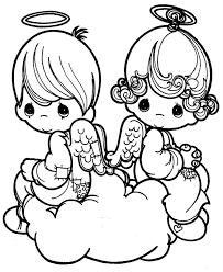 printable 17 precious moments angel coloring pages 7331 precious