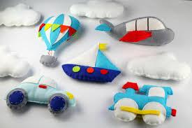 transportation pattern set car air balloon