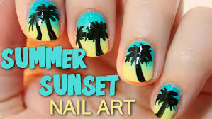 Best Nail Art Brushes Summer Sunset Nail Art Totallycoolnails Youtube