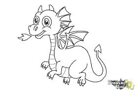 how to draw a cute dragon drawingnow