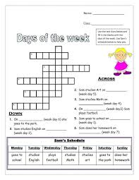 articles with free days of the week worksheets for preschool tag