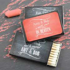 wedding matchbooks personalized silhouette matchboxes black box set of 50