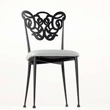 chaise m tallique chaise provençale en métal assise synthétique rembourrée milos 4