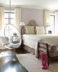 Feminine Bedroom Furniture by Feminine Bedroom With Clear Hanging Egg Chair Papercity My