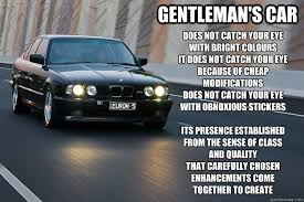Car Meme Stickers - gentleman s car does not catch your eye with bright colours it does
